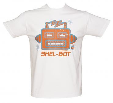 Men's White Shel-Bot Big Bang Theory T-Shirt