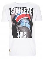 Unisex White Squeeze This T-Shirt from Worn By