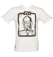 Men's Star Wars C3PO Dripping Frame White T-Shirt from Addict