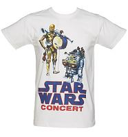 Men's White Star Wars Concert T-Shirt