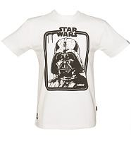 Men's White Star Wars Darth Vader Dripping Frame T-Shirt from Addict