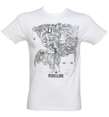 Men's White Star Wars Revolver T-Shirt