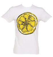 Men's White Stone Roses Big Lemon T-Shirt from Amplified Vintage