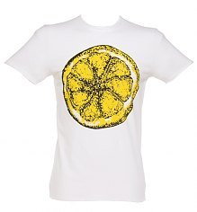 Men's White Stone Roses Big Lemon T-Shirt from Amplified Vintage [View details]