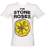 Men's White Stone Roses Lemon T-Shirt from Amplified Vintage