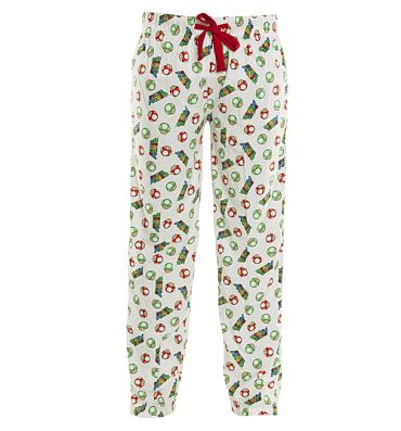 Men's White Super Mario Brothers All Over Mushroom Print Lounge Pants