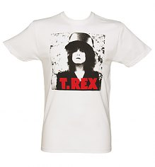 Men's White T-Rex Photo Print T-Shirt from Dirty Cotton Scoundrels [View details]