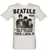 Men's White The Beatles Shea Stadium T-Shirt from Amplified Vintage