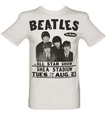 Men's White The Beatles Shea Stadium T-Shirt from Amplified Vintage [View details]