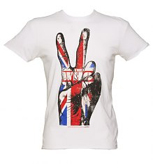 Men's White The Who V Sign T-Shirt from Amplified Vintage [View details]