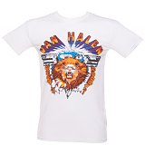 Men's White Van Halen Lion T-Shirt