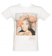 Men's Whitney Houston Red Scarf T-Shirt [View details]