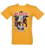 Men's Yellow Beastie Boys Solid Gold Hits Vintage Print T-Shirt