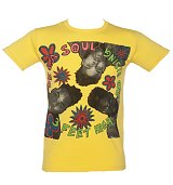 Men's Yellow De La Soul 3 feet And Rising T-Shirt