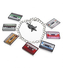 Mini Mix Tape Retro Cassette Bracelet from Punky Pins [View details]