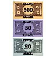 Monopoly Money 3pk Tea Towels