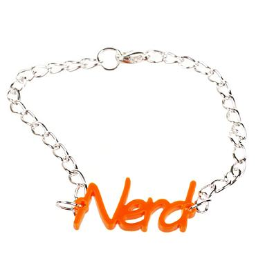Nerd Slogan Bracelet from Chelsea Doll