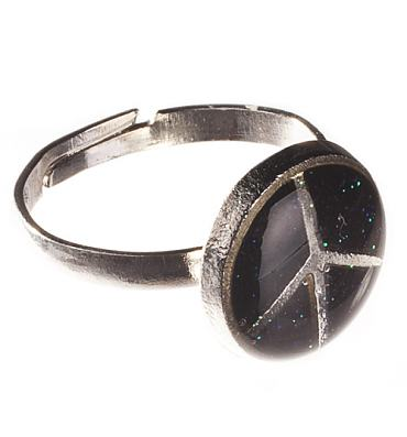 Nineties Colour Changing Peace Sign Mood Ring from Chelsea Doll