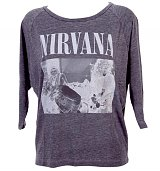 Ladies Raglan Sleeve Slouch Nirvana T-Shirt from Chaser LA