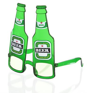 Novelty Beer Goggle Sunglasses
