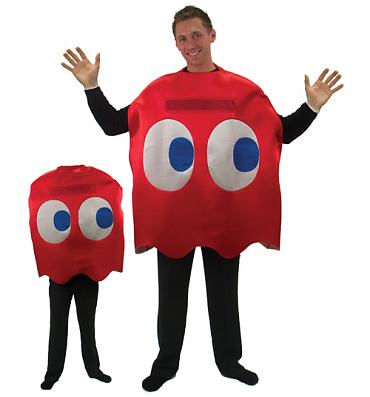 Pac-Man Blinky Red Ghost Fancy Dress Costume
