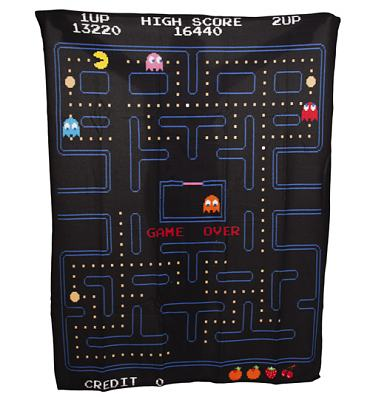 Pac-Man Maze Fleece Blanket