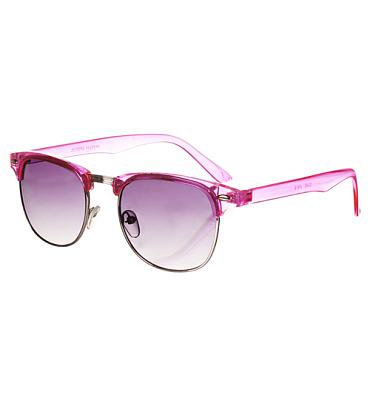 Pink Duke Half Frame Wayfarer Sunglasses from Jeepers Peepers