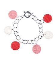 Pink Love Hearts Bracelet from ShmooBamboo