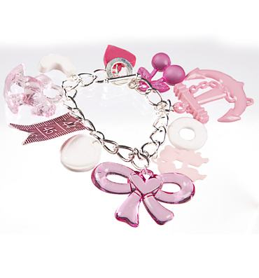 Pink Mega Retro Charm Bracelet from Bits and Bows
