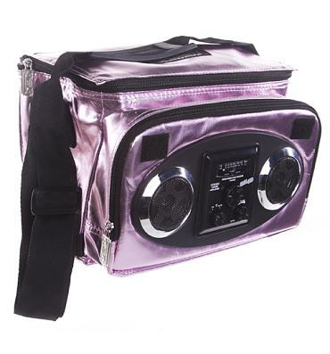 Pink Metallic Retro Chillout Cooler With Working Speakers from Fydelity