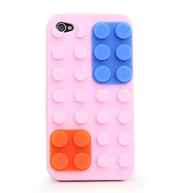 Pink Retro Colour Block iPhone 4 Case