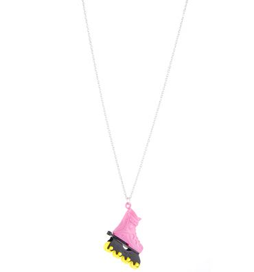 Pink Retro Roller Skate Necklace from Rock N Retro
