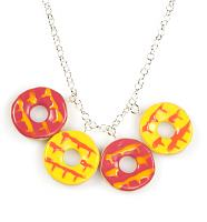 Pink and Yellow Party Ring Statement Necklace from Bits and Bows