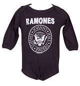 Kids Charcoal Ramones Logo Babygrow from Amplified Kids