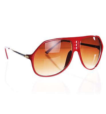 Red Retro Plastic Sam Aviators from Jeepers Peepers