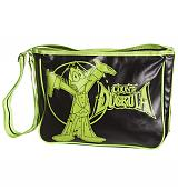 Retro Black And Green Count Duckula Satchel Bag