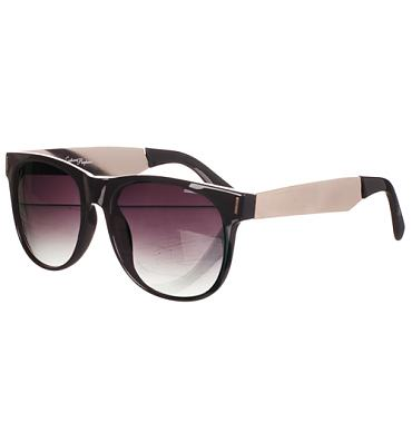 Retro Black And Metal Vincent Wayfarer Sunglasses from Jeepers Peepers