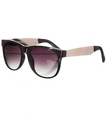 Retro Black And Metal Vincent Wayfarer Sunglasses from Jeepers Peepers [View details]