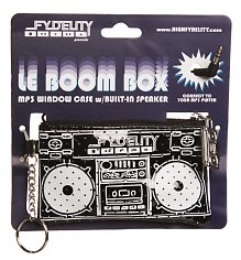 Retro Black Boombox Keychain With Working Speaker from Fydelity [View details]