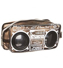 Retro Black Boombox Wash Bag With Working Speakers from Fydelity [View details]