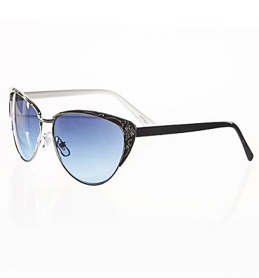 Retro Black Elma Sunglasses from Jeepers Peepers