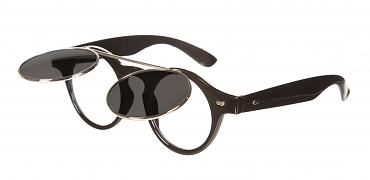 Retro Black Round Flipster Sunglasses from Chelsea Doll