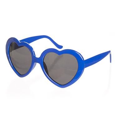 Retro Blue Heart Sunglasses from Punky Pins