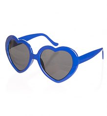 Retro Blue Heart Sunglasses from Punky Pins [View details]