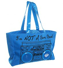 Retro Blue I'm Not A Boombox Tote Bag with Working Speakers from Fydelity [View details]