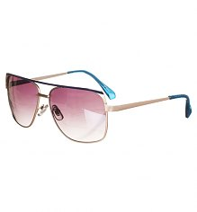 Retro Blue Lionel Angular Aviator Sunglasses from Jeepers Peepers [View details]