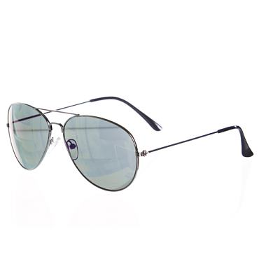 Retro Blue Mirror Lens Aviator Sunglasses