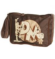 Retro Brown Danger Mouse Canvas Satchel Bag