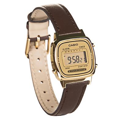Retro Brown Strap Digital Watch from Casio
