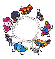 Retro Comic Book Explosions Charm Bracelet from Punky Pins